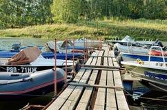 Причаливать для моторных лодок Стоковое Изображение
