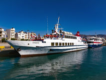 Причаливающ для маломерных суден в Ierapetra, Крит Стоковые Изображения RF