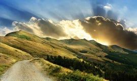 Причаливая буря на итальянских горах Стоковое фото RF