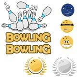 причаливая штыри игры боулинга шарика Стоковое Фото