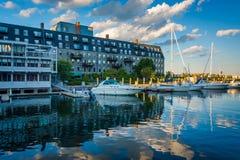 Причал Левиса, на портовом районе северного конца, в Бостоне, масса Стоковое Изображение