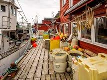 Причал рыбацкого поселка стоковое изображение rf