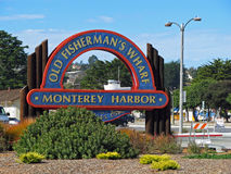 Причал рыболова, гавань Монтерей, Калифорния стоковые фотографии rf