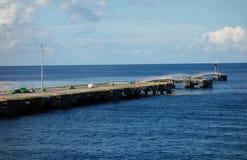 Причал туристического судна в Вест-Инди Стоковые Изображения RF