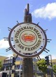 Причал Fishermans, в Сан-Франциско, Калифорния Стоковые Изображения RF