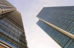 причал london самомоднейший Великобритании зданий канереечный Стоковые Фотографии RF