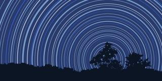 причиненная камерой звезда вращения s движения выдержки земли длинняя отставет Стоковые Фотографии RF