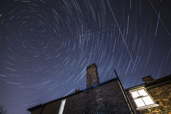 причиненная камерой звезда вращения s движения выдержки земли длинняя отставет Стоковые Изображения RF