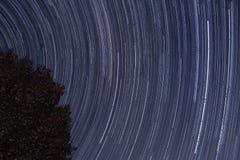 причиненная камерой звезда вращения s движения выдержки земли длинняя отставет Стоковое Изображение
