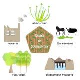 Причины обезлесения Infographic иллюстрация вектора