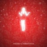 Причудливая рождественская открытка Стоковая Фотография RF