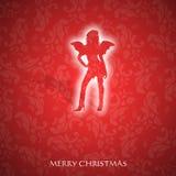 Причудливая рождественская открытка Стоковое фото RF