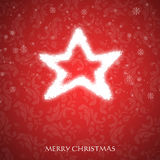 Причудливая рождественская открытка Стоковые Фотографии RF