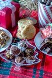 Причудливая сладостная таблица на праздники Стоковое фото RF