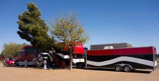 Причудливое снаряжение перемещения на кемпинге в Техасе Стоковые Фото