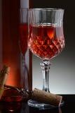 Причудливое стекло красного вина Стоковое Изображение