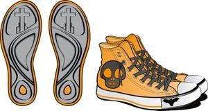 причудливые ботинки пар Стоковые Фото