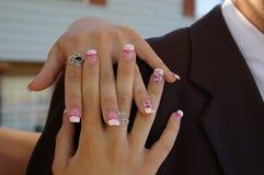 причудливые ногти Стоковые Фото