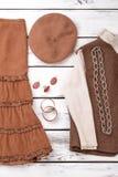 Причудливые одежды женщины зимы Стоковое фото RF