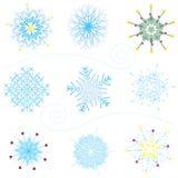 Причудливые снежинки Стоковое фото RF