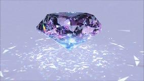 Причудливый отснятый видеоматериал рассеивания диаманта цвета Вращение причудливого диаманта цвета оживленное акции видеоматериалы
