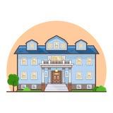 Причудливый плоский дом коттеджа Стоковая Фотография