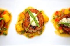 причудливый scallop еды Стоковые Изображения