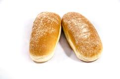 2 причудливых больших плюшки хот-дога Стоковое Фото
