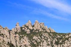 Причудливая верхняя часть горы Монтсеррата Стоковая Фотография RF