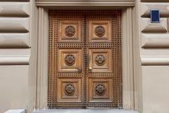 Причудливая деревянная дверь Стоковое Изображение RF