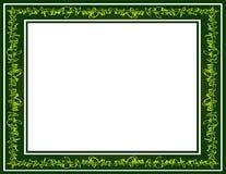 Зеленая граница Scribble надписи на стенах Стоковое Изображение