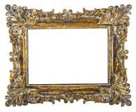 Причудливая картинная рамка золота Стоковое Фото