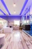 Причудливая мраморная идея ванной комнаты Стоковые Изображения