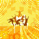 Причудливая оранжевая предпосылка Стоковое фото RF