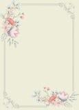 Причудливая флористическая предпосылка рамки Стоковые Фотографии RF