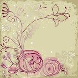 Причудливая флористическая предпосылка бесплатная иллюстрация