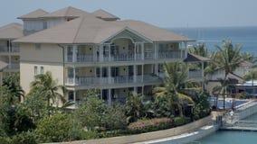 Причудливое здание курорта в Сент-Люсия видеоматериал
