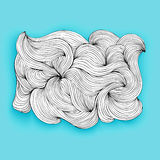Причудливое сделанное облако линиями, объектом вектора стоковое фото