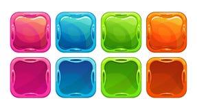 Причудливые красочные яркие кнопки иллюстрация штока