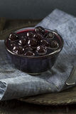 Причудливые темные вишни коктеиля Maraschino Стоковое Изображение