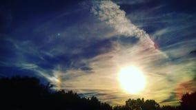 Причудливый заход солнца Стоковая Фотография RF