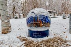 Пришествие в Загребе на парке Zrinjevac Стоковое Изображение