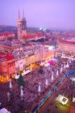 Пришествие в Загребе, Хорватии Стоковые Изображения