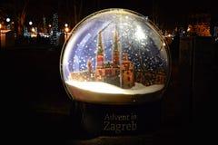Пришествие в Загребе, Хорватии Стоковые Фото