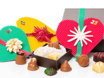 Пришествие, календарь рождества, шоколад, пралине Стоковые Фотографии RF