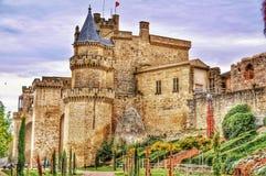 1644 пришли землетрясение замока с правых утесов бортовой Испании Стоковая Фотография RF