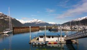 Приюченная гавань в Аляске Стоковые Изображения