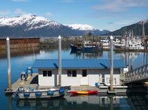Приюченная гавань в Аляске Стоковые Изображения RF