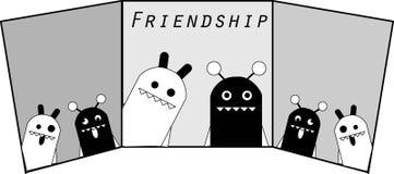 Приятельства изверга monochrome 2 иллюстрация вектора