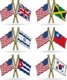 приятельство американских флагов Стоковые Изображения RF